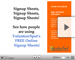 examples of online sign up sheets from signup com signup com